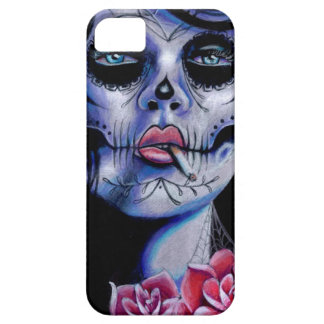 Live Fast Die Young Day of the Dead Portrait Case For The iPhone 5