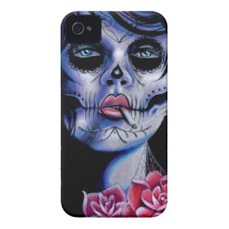 Live Fast Die Young Day of the Dead Portrait iPhone 4 Cover