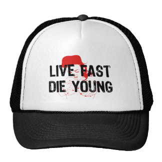 Live Fast, Die Young Mesh Hats