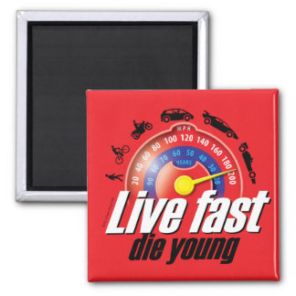 Live Fast Die Young Magnet