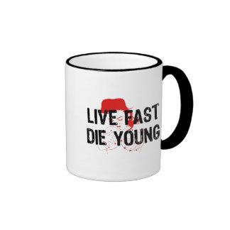 Live Fast, Die Young Ringer Mug