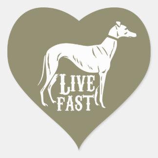 Live Fast Heart Sticker
