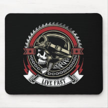 Live Fast Mouse Pad