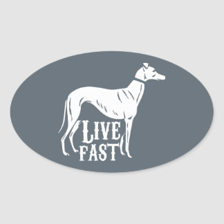 Live Fast Oval Sticker