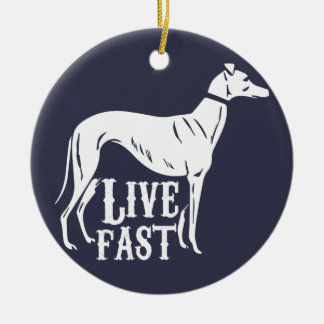 Live Fast Round Ceramic Decoration