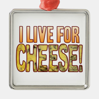 Live For Blue Cheese Silver-Colored Square Decoration