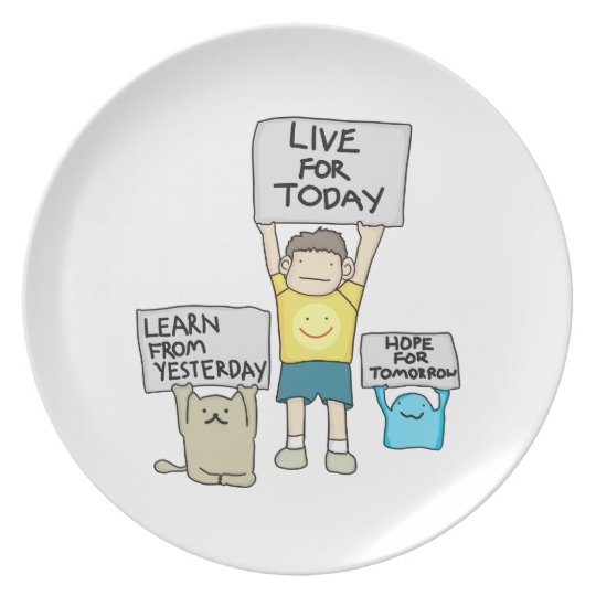 Live for Today Melamine Plate