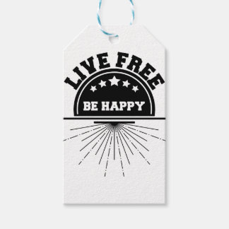 Live free bee happy gift tags