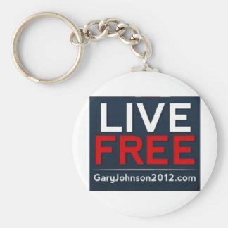Live Free Gary Johnson for President 2012 Key Ring