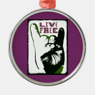 Live Free Pop Art design Christmas Ornament