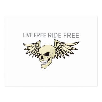 LIVE FREE RIDE FREE POST CARDS