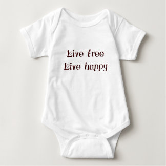 live free trend chic quote with funny text baby bodysuit