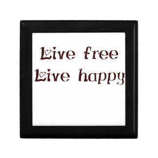 live free trend chic quote with funny text small square gift box