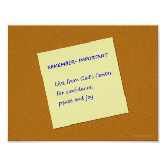 Live from God's Center Important Reminder Poster