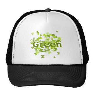 live green butterfly hats