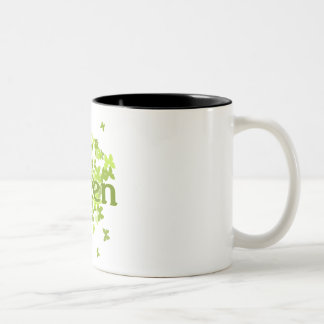 live green butterfly coffee mugs