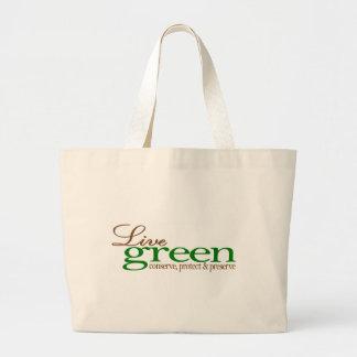 Live Green Conserve Large Tote Bag
