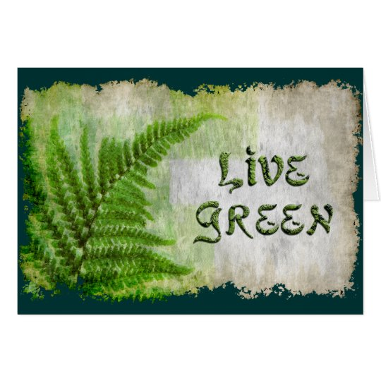LIVE GREEN Eco Enviro Gift Card for Earth Day