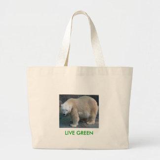 LIVE GREEN LARGE TOTE BAG