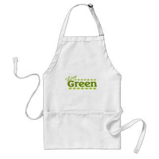 live green leaf standard apron