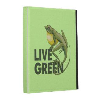 Live Green, Lizard iPad Case