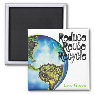 Live Green Magnet