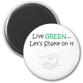 Live Green 6 Cm Round Magnet