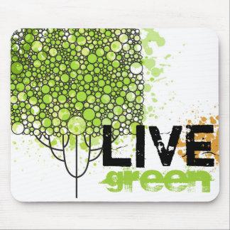 Live Green Mouse Mat