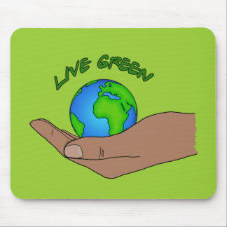 live green mouse mats