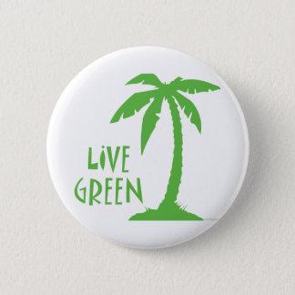 Live Green - Palm Tree 6 Cm Round Badge