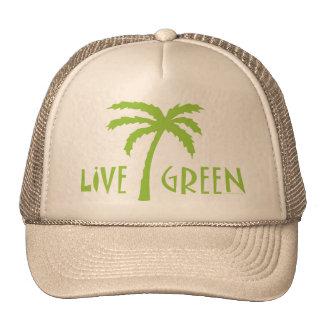 Live Green Palm Tree Environmental Cap
