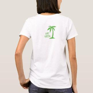 Live Green Palm Tree Environmental T-Shirt