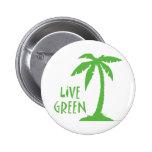 Live Green - Palm Tree Pins