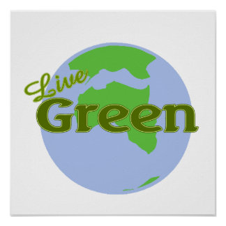 live green planet earth print
