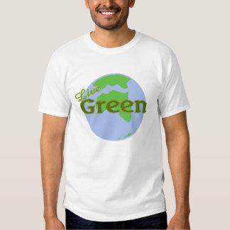 live green planet earth t-shirt