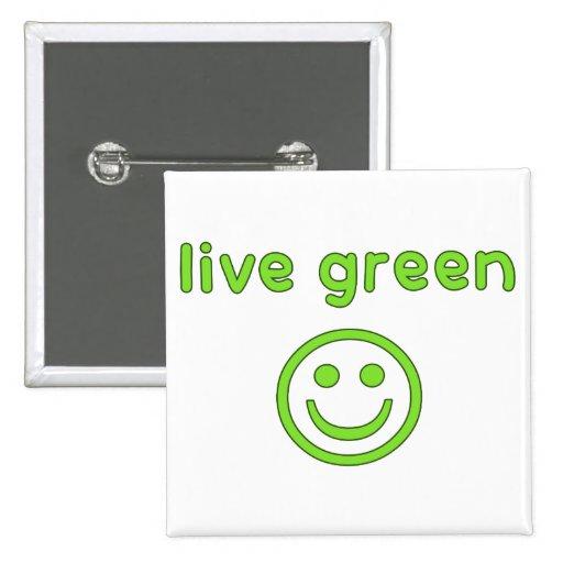 Live Green Pro Environment Eco Friendly Renewable Button