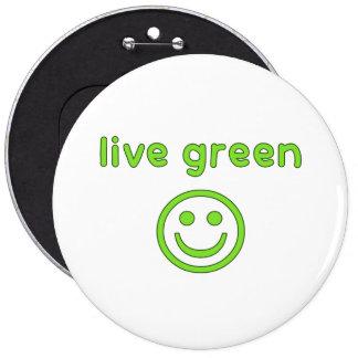 Live Green Pro Environment Eco Friendly Renewable Pinback Button