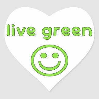 Live Green Pro Environment Eco Friendly Renewable Heart Sticker
