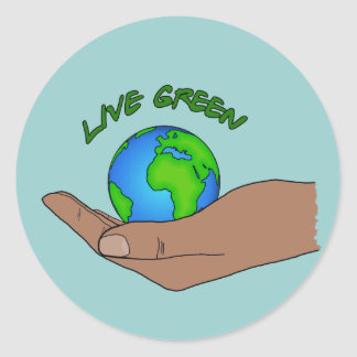 live green round sticker
