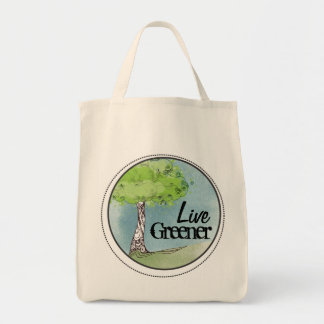Live Green Tote Bag