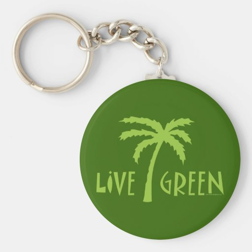 Live Green Tree Hugger Keychains