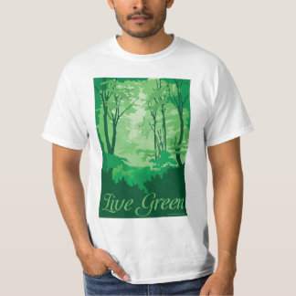 Live Green - Tree Hugger T Shirt