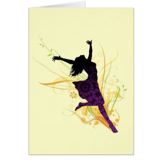 Live healthy, be free! greeting card