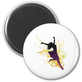 Live healthy, be free! 6 cm round magnet
