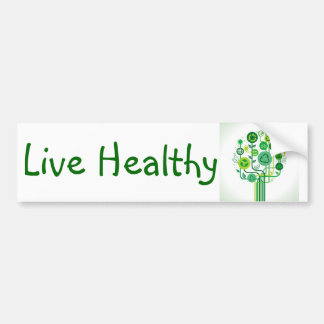 Live Healthy Bumper Sticker
