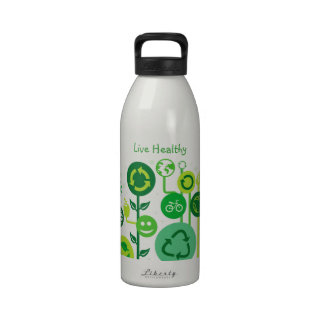 Live Healthy Collection Reusable Water Bottles