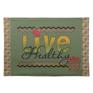 Live Healthy Country Apple Red and Green Placemat