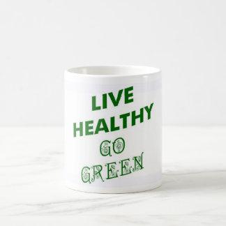 LIVE HEALTHY, GO GREEN MUG
