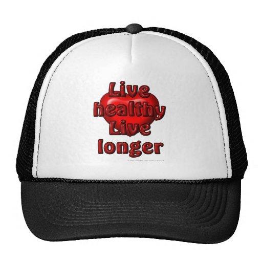 Live healthy Live longer Mesh Hat