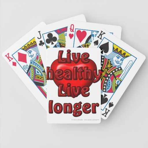 Live healthy Live longer Bicycle Poker Deck
